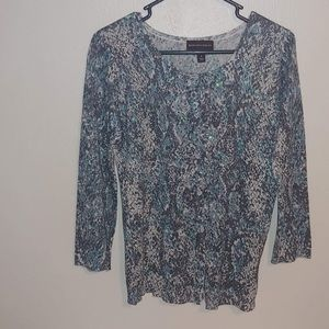 Dana Buchman Button Up Sweater Size-Small